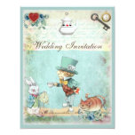 Mad Hatter Wonderland Wedding 4.25x5.5 Paper Invitation Card
