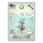 Mad Hatter Wonderland Wedding Save The Date Card