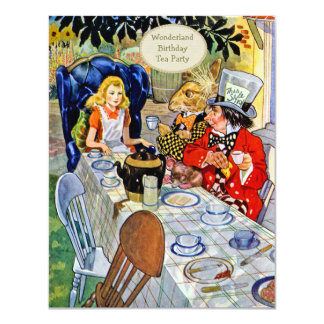 Mad Hatter's Birthday Tea Party Card