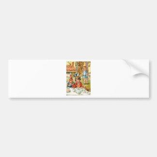 Mad Hatter's Tea Party  - Alice in Wonderland Bumper Sticker