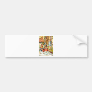 Mad Hatter's Tea Party  - Alice in Wonderland Car Bumper Sticker