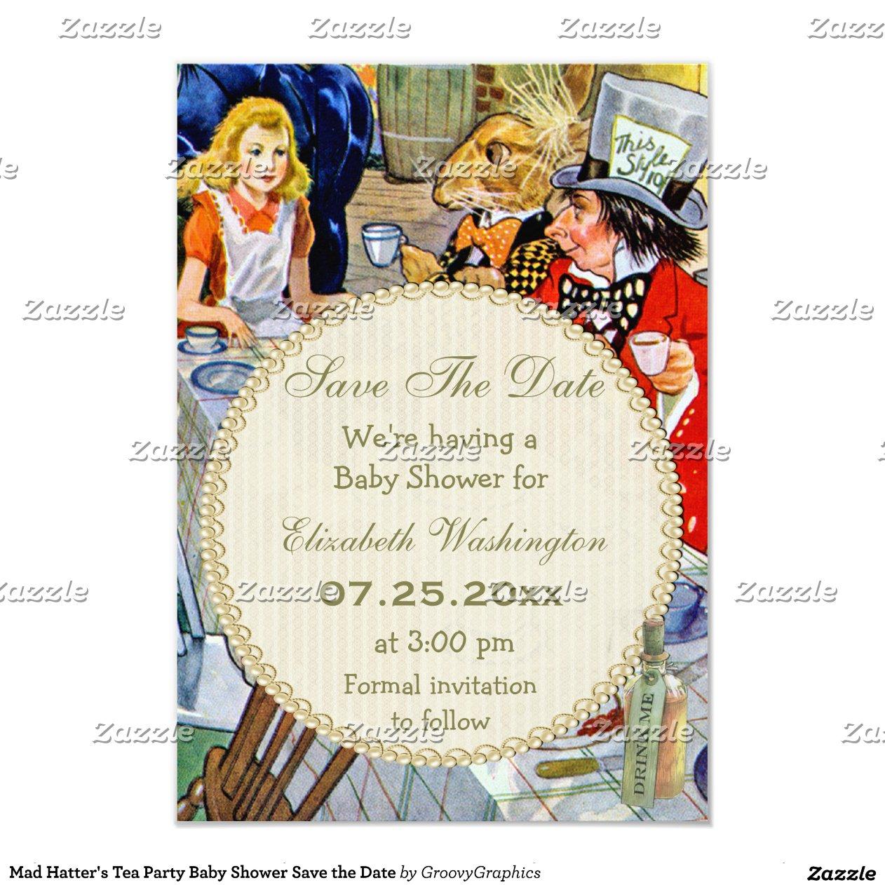 Alice In Wonderland Bridal Shower Invitation Template - 2018 images ...