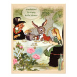 Mad Hatter's Tea Party Bridal Shower Invitations