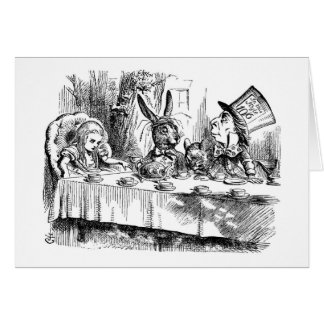 Mad Hatter's Tea Party Card