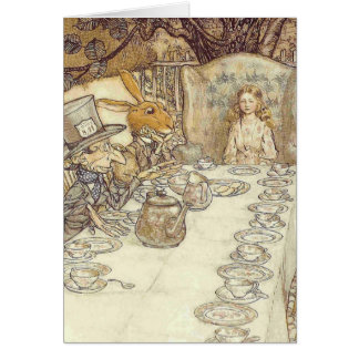 Mad Hatters Tea Party Card