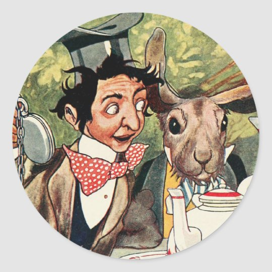 Mad Hatter's Tea Party Classic Round Sticker