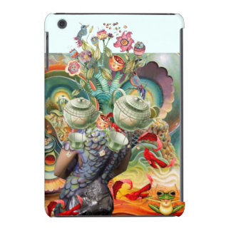 Mad hatters tea party collage iPad mini case