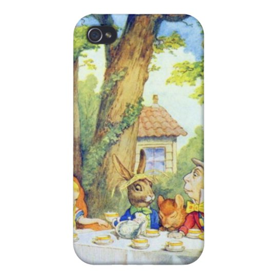 Mad Hatters Tea Party Color iPhone 4/4S Covers