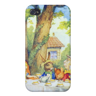 Mad Hatters Tea Party Color iPhone 4 Cases