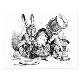 Mad Hatters Tea Party Dormouse Postcard