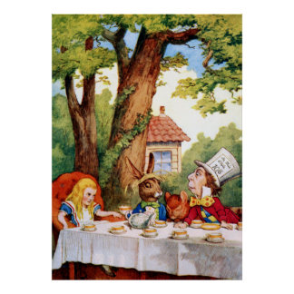 Mad Hatter's Tea Party from Alice in Wonderland Posters