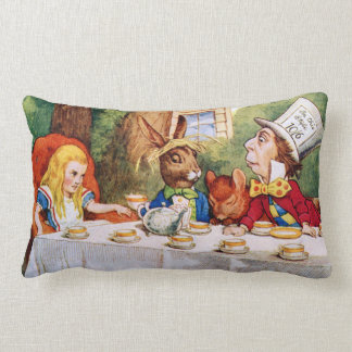 Mad Hatter's Tea Party in Wonderland Lumbar Pillow