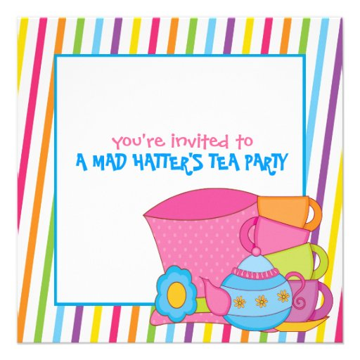 mad hatter 39 s tea party invitations zazzle