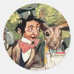 Mad Hatter's Tea Party Round Sticker