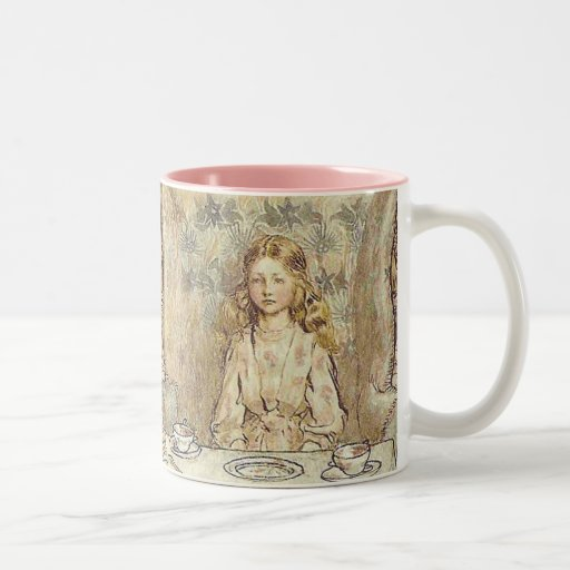 Mad Hatters Tea Party Two-Tone Coffee Mug