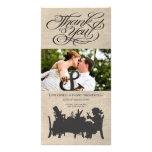 Mad Hatters Tea Party Wedding Thank You Photo Card Photo Greeting Card