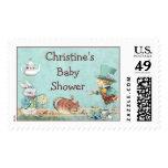 Mad Hatter's Tea Party Wonderland Baby Shower Postage Stamps