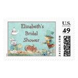 Mad Hatter's Tea Party Wonderland Bridal Shower Stamps