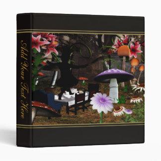 Mad Hatter's Teaparty Vinyl Binder
