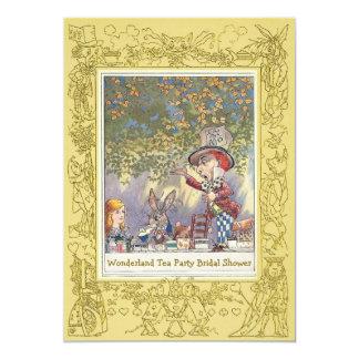 Mad Hatter's Wonderland Tea Party Bridal Shower 5x7 Paper Invitation Card