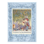 Mad Hatter's Wonderland Tea Party Bridal Shower Personalized Announcements