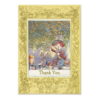 Mad Hatter's Wonderland Tea Party Thank You Card