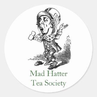 Mad HatterTea Society Classic Round Sticker
