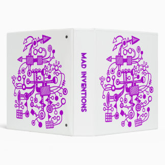 "Mad Inventions - Purple on White (1.5"") Binder"