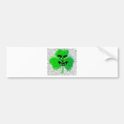 Mad Irish Shamrock Bumper Stickers