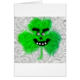 Mad Irish Shamrock Greeting Card