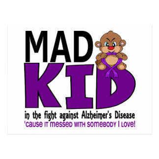 Mad Kid Alzheimers Disease Postcard