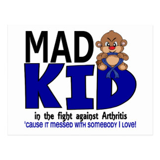 Mad Kid Arthritis Postcard