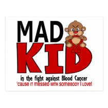Mad Kid Blood Cancer Postcard