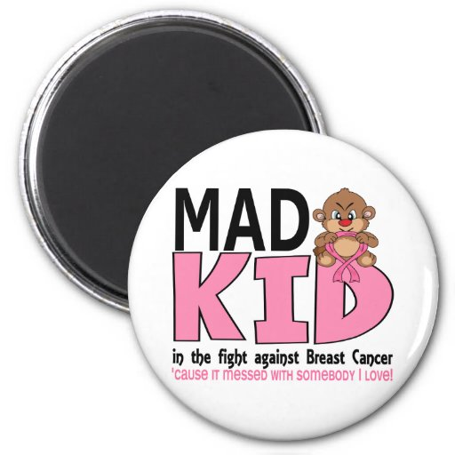 Mad Kid Breast Cancer Magnets