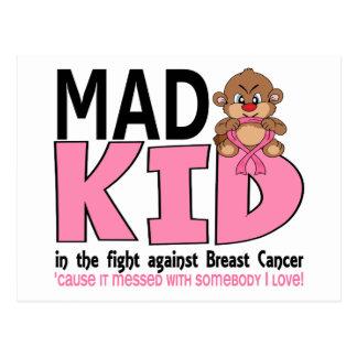 Mad Kid Breast Cancer Postcard