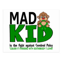 Mad Kid Cerebral Palsy Postcard