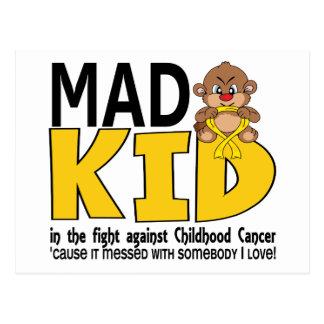 Mad Kid Childhood Cancer Postcard