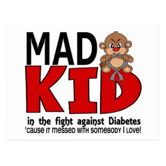 Mad Kid Diabetes Postcard