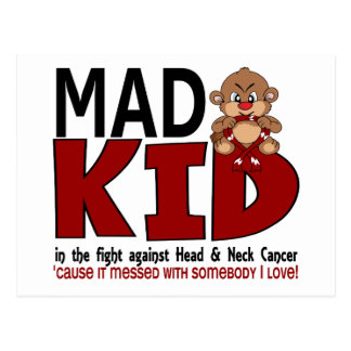 Mad Kid Head and Neck Cancer Postcard