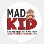 Mad Kid Head and Neck Cancer Round Sticker