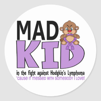 Mad Kid Hodgkins Lymphoma Classic Round Sticker