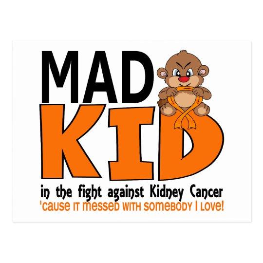 Mad Kid Kidney Cancer Postcard