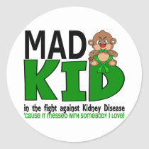 Mad Kid Kidney Disease Classic Round Sticker