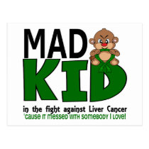 Mad Kid Liver Cancer Postcard