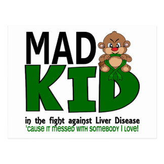 Mad Kid Liver Disease Postcard