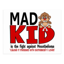 Mad Kid Mesothelioma Postcard