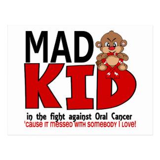 Mad Kid Oral Cancer Postcard