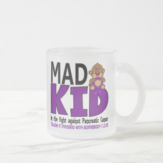 Mad Kid Pancreatic Cancer 10 Oz Frosted Glass Coffee Mug
