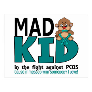 Mad Kid PCOS Postcard