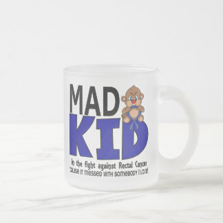 Mad Kid Rectal Cancer 10 Oz Frosted Glass Coffee Mug